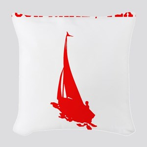 Red Sail Boat Silhouette (Custom) Woven Throw Pill
