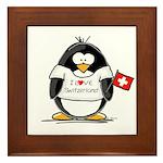 Switzerland Penguin Framed Tile