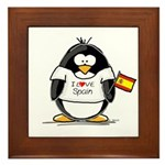 Spain Penguin Framed Tile