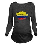 Colombiano orgulloso Long Sleeve Maternity T-Shirt