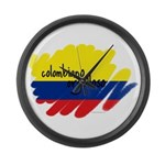 Colombiano orgulloso Large Wall Clock