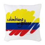Colombiano orgulloso Woven Throw Pillow