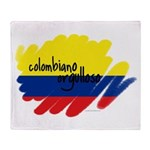 Colombiano orgulloso Throw Blanket
