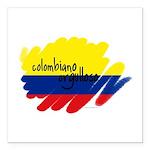 Colombiano orgulloso Square Car Magnet 3
