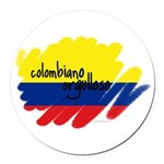 Colombiano orgulloso Round Car Magnet