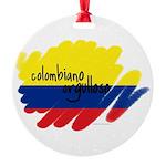 Colombiano orgulloso Round Ornament