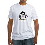 Russia Penguin Fitted T-Shirt