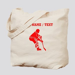Red Hockey Player (Custom) Tote Bag