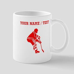 Red Hockey Player (Custom) Mugs