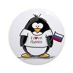 Russia Penguin Ornament (Round)