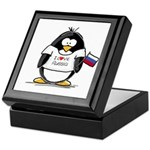 Russia Penguin Keepsake Box