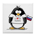 Russia Penguin Tile Coaster