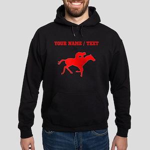 Red Horse Racing Silhouette (Custom) Hoodie