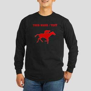 Red Horse Racing Silhouette (Custom) Long Sleeve T