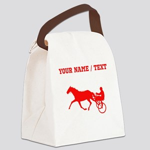 Red Harness Racing (Custom) Canvas Lunch Bag