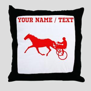Red Harness Racing (Custom) Throw Pillow