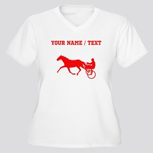 Red Harness Racing (Custom) Plus Size T-Shirt