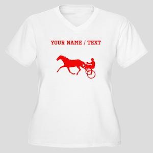 Red Harness Racing (Custom) Plus Size T-Shirt
