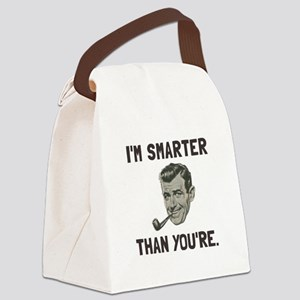 Smarter Than Youre Canvas Lunch Bag