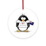 New Zealand Penguin Ornament (Round)