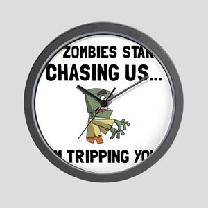 Zombies Chase Us Tripping Wall Clock