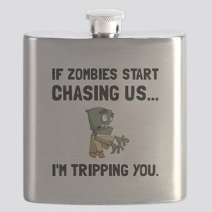 Zombies Chase Us Tripping Flask