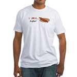 I Love Lefse Fitted T-Shirt