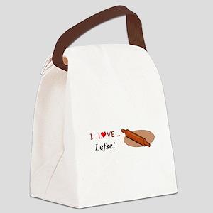 I Love Lefse Canvas Lunch Bag