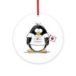 Japan Penguin Ornament (Round)