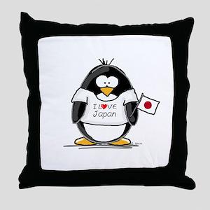 Japan Penguin Throw Pillow