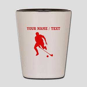 Red Field Hockey Player Silhouette (Custom) Shot G