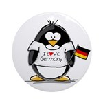 Germany Penguin Ornament (Round)