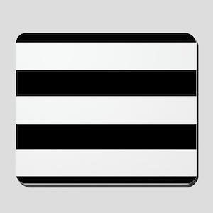 modern black white stripes Mousepad