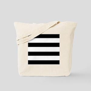 modern black white stripes Tote Bag