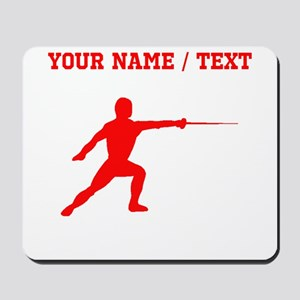 Red Fencer Silhouette (Custom) Mousepad