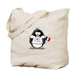 France Penguin Tote Bag