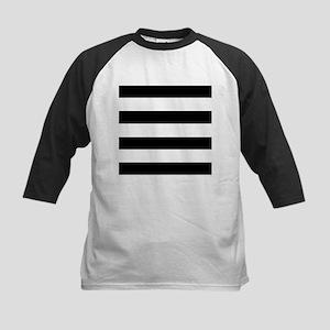 modern black white stripes Baseball Jersey