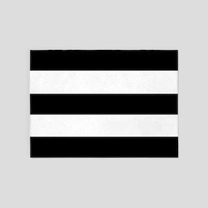 modern black white stripes 5'x7'Area Rug