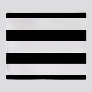 modern black white stripes Throw Blanket