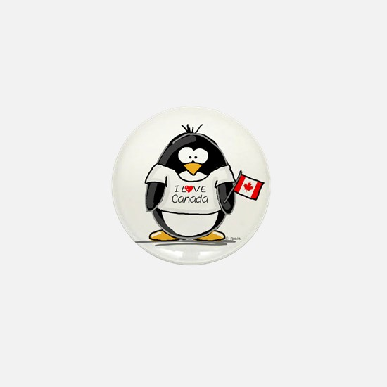 Canada Penguin Mini Button