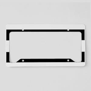 modern black white stripes License Plate Holder