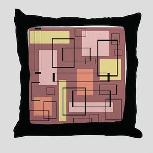 Retro Mid-Century Throw Pillow