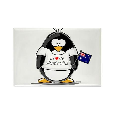 Australia Penguin Rectangle Magnet