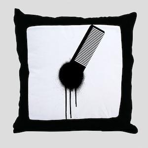 Comb Graffiti Throw Pillow
