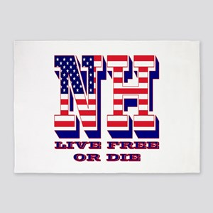 New Hampshire NH Live Free Or Di 5'x7'Area Rug