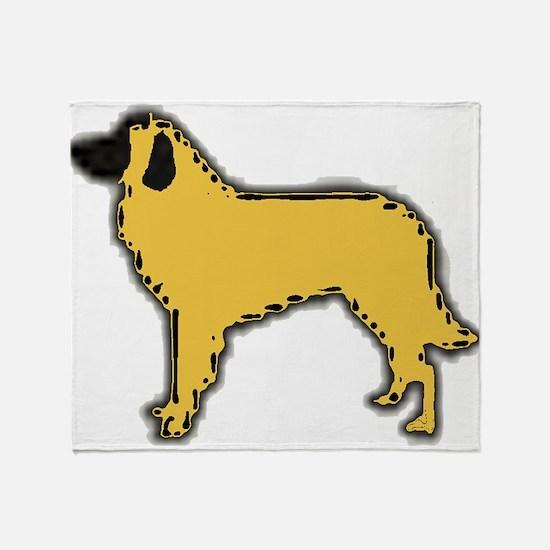 estrela mountain dog color silhouette Throw Blanke