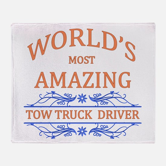 Tow Truck Driver Throw Blanket