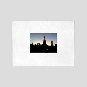 NYC - Empire State Building Skyline 5'x7'Area Rug
