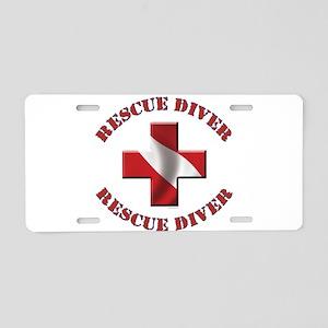 Rescue Diver Aluminum License Plate