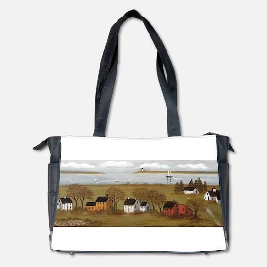 River View Folk Art Landscape Diaper Bag